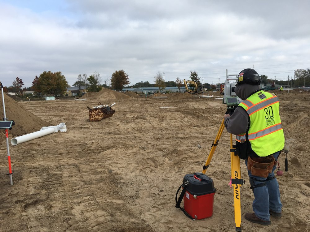 3D Imaging Services conducting BIM Point Layout onsite at Mercy HealthPointe.