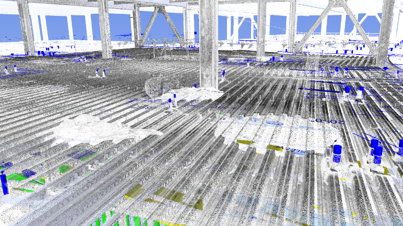Validating mechanical sleeves, hangers and radiant tubing installation position with point-clouds vs. the BIM coordination model.