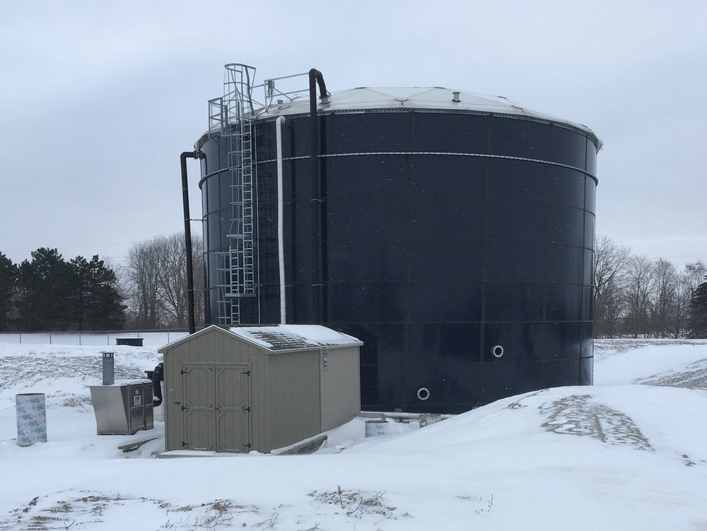 treatment tank and pump house