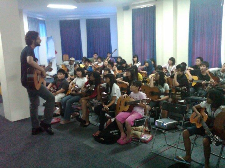 Chris teaching a masterclass in Indonesia