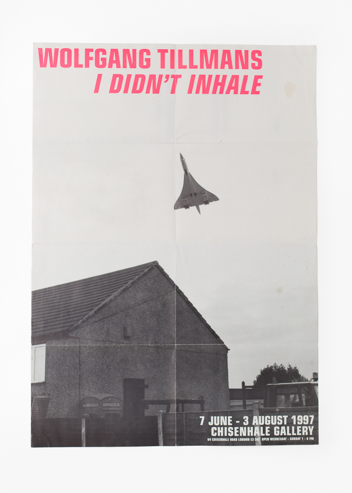 Wolfgang Tillmans - I Didn't Inhale</br>Invitation Poster 60 x 84 cm</br>Chisenhale Gallery 1997</br>Sold out