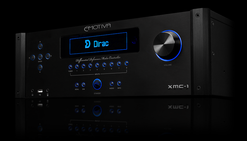 "The XMC-1 from Emotiva featuring ""Dirac Live"" among the ""Product of"