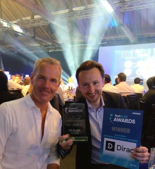 Dirac Research - sound technology- Best VR Technology Award at TechXLR8