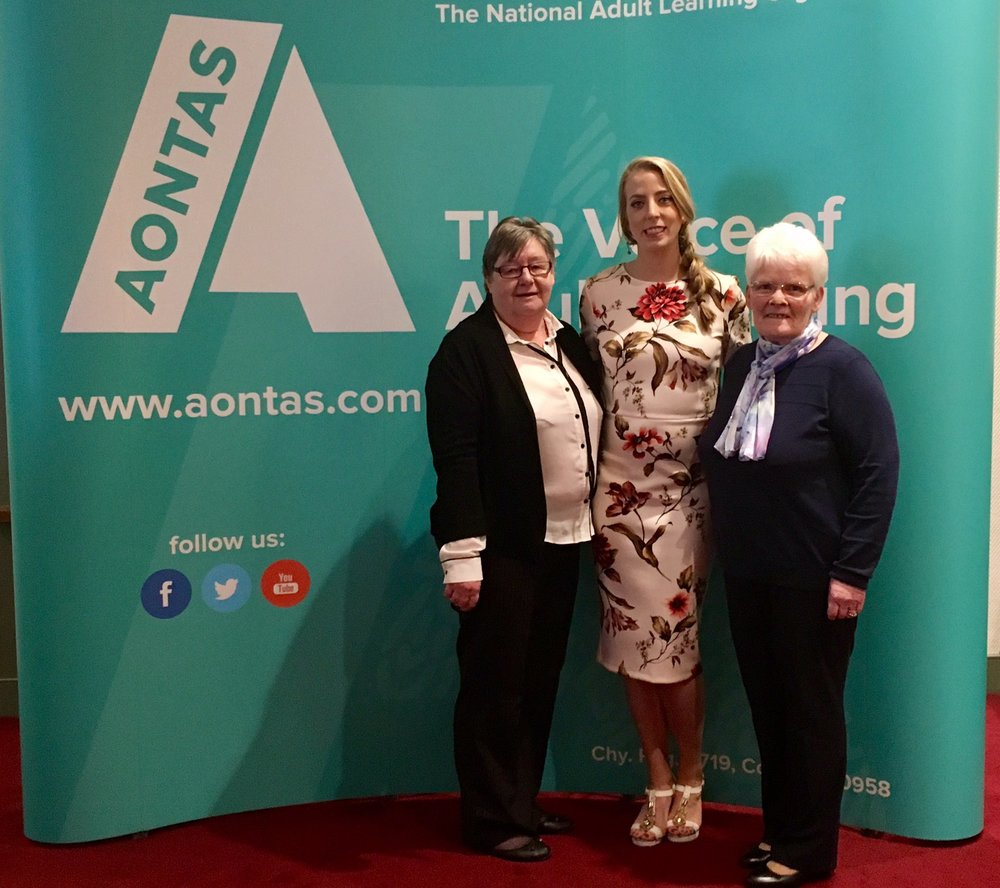 Rosemary, Stef, and Sally represented the project at the Awards ceremony in Dublin.