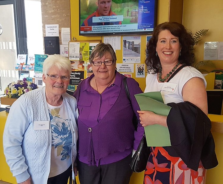Sally and Rosemary, two very digitally empowered tenants working hard in their communities with Healy King from Supporting Communities.