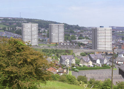 Tower Blocks in Larne