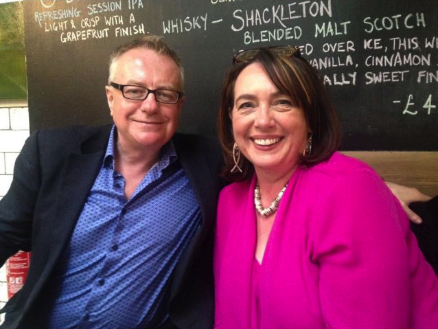 Professor Paddy Gray and Sheenagh McNally, a former student and current Housing Association Development Officer with Empowering Communities
