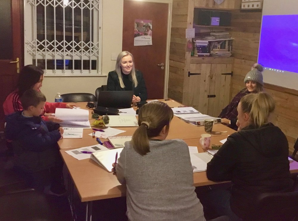 Karla and some of the Drumbeg learners at their evening course.