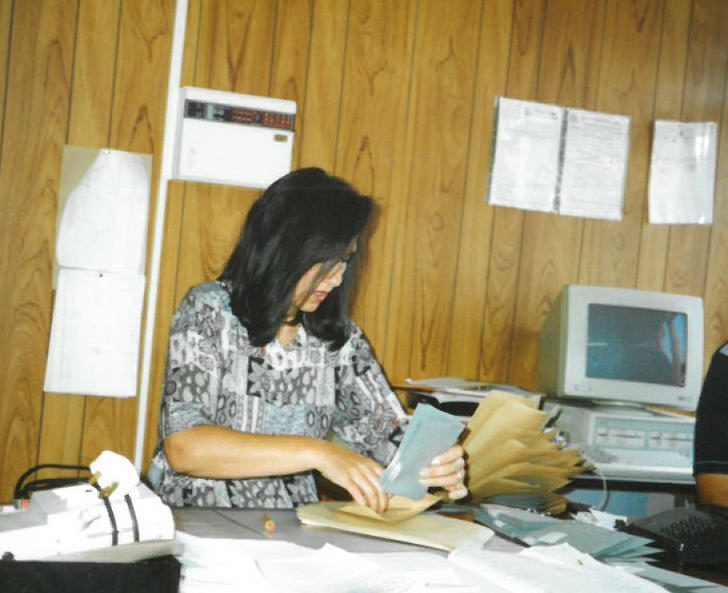 Tricia at the ACE office.