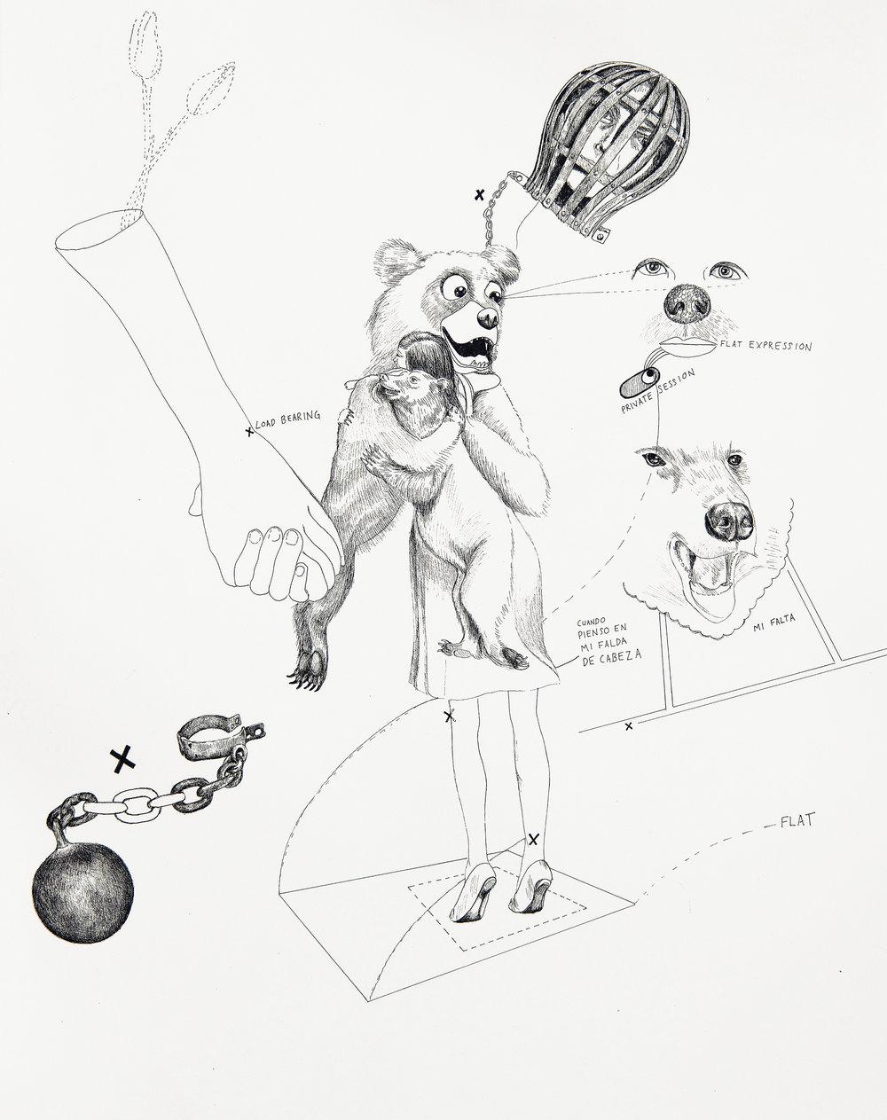 """""""Falta De Expresión """" 2017, 16x20"""""""