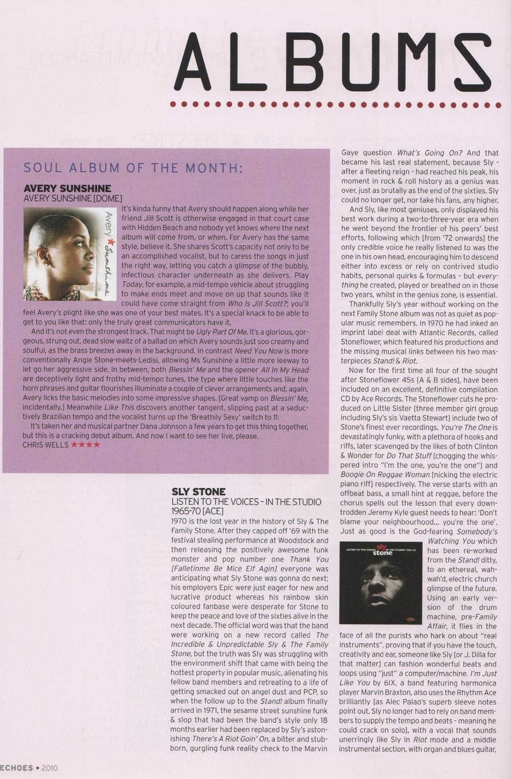 Echoes Magazine May 2010