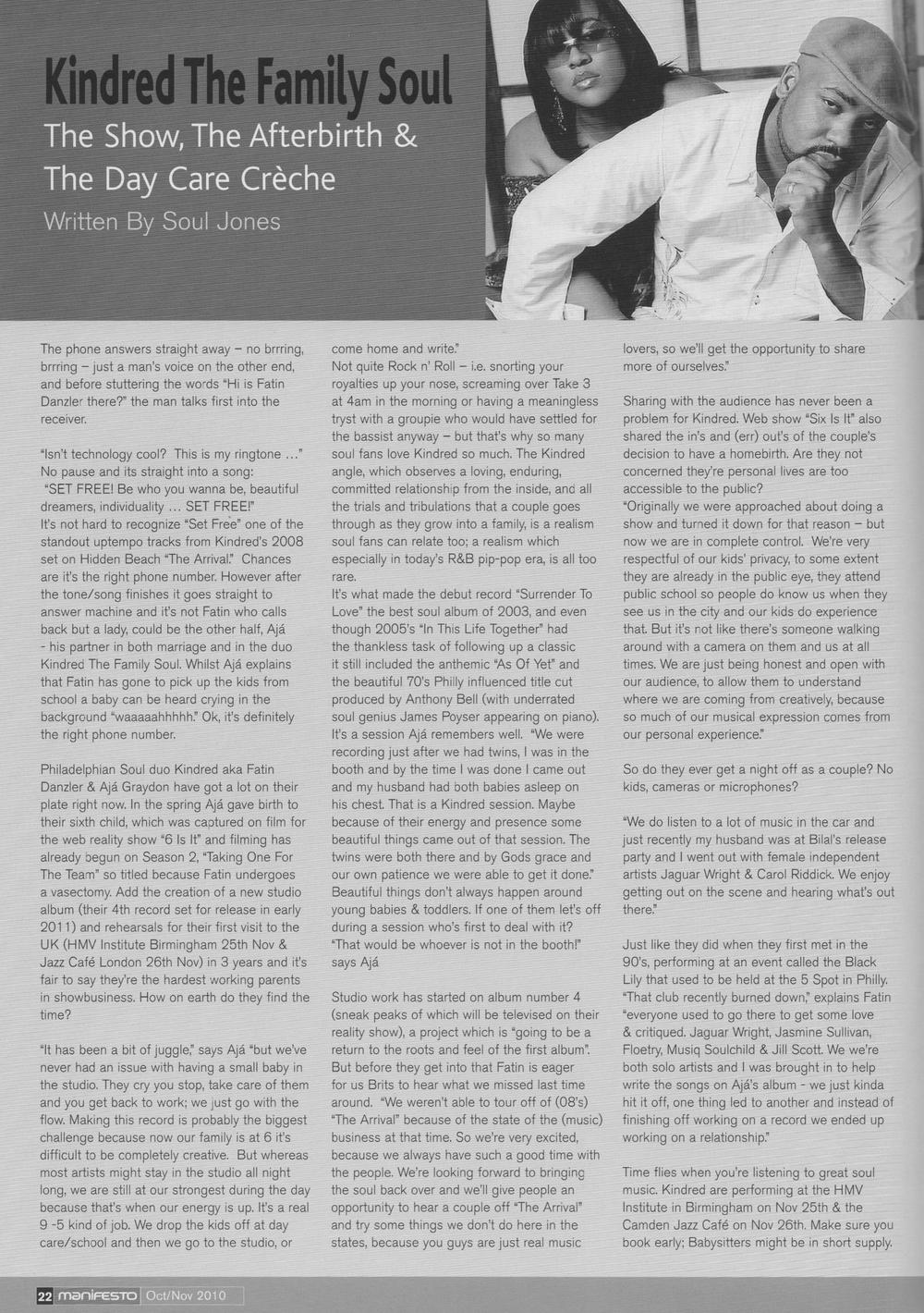 Manifesto Magazine Oct 2010