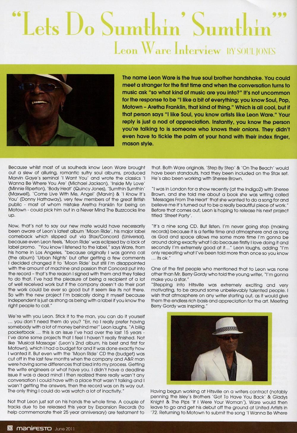 Manifesto Soul Magazine Jun 2011