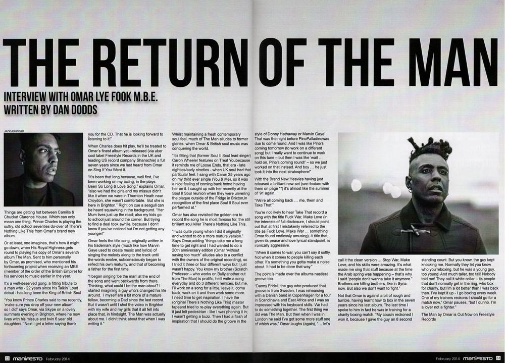 Manifesto Soul Magazine Feb 2014