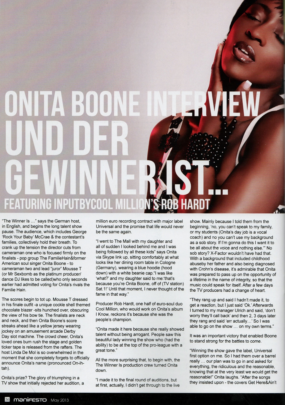 Manifesto Soul Magazine May 2013
