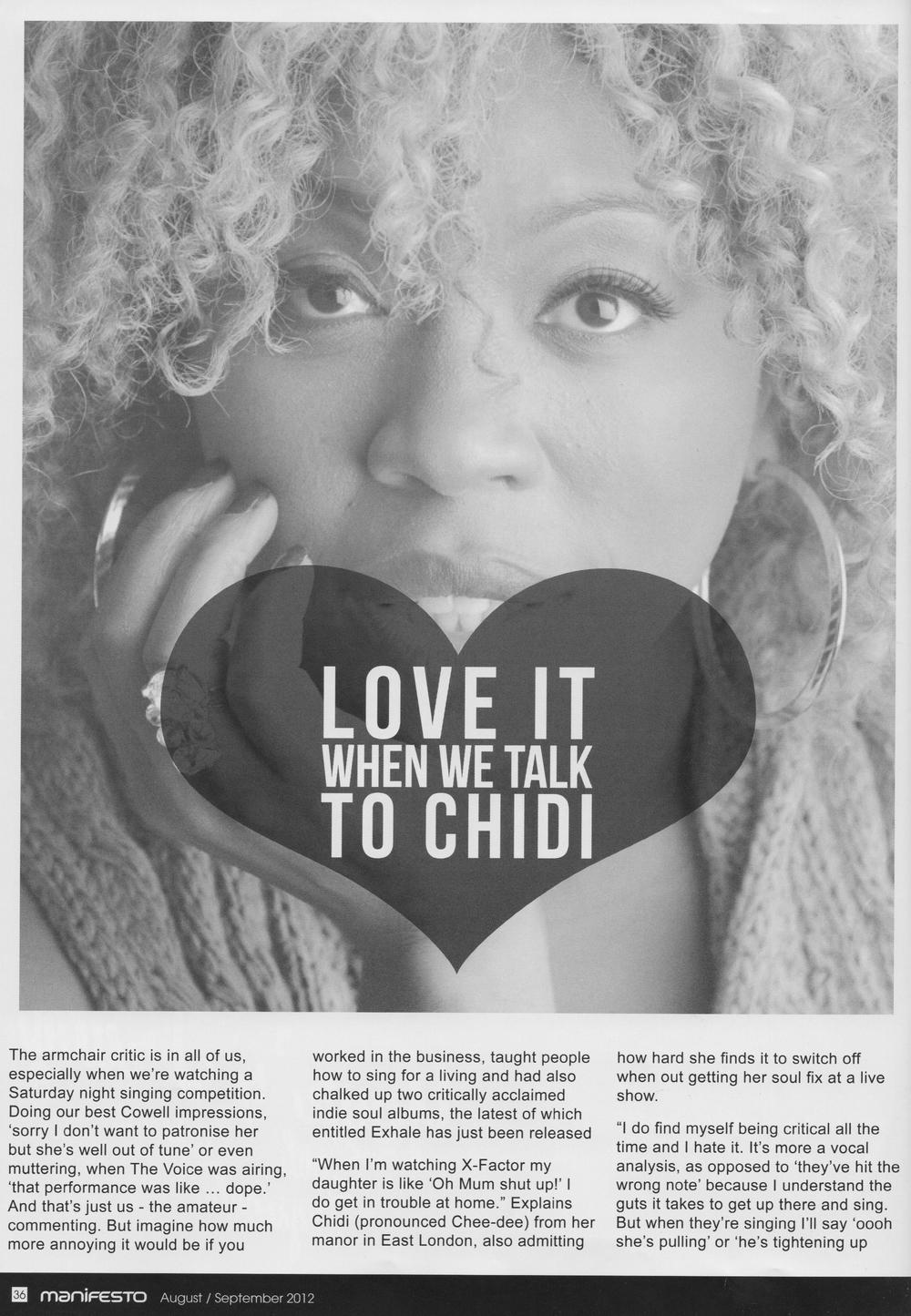 Manifesto Soul Magazine Aug 2012
