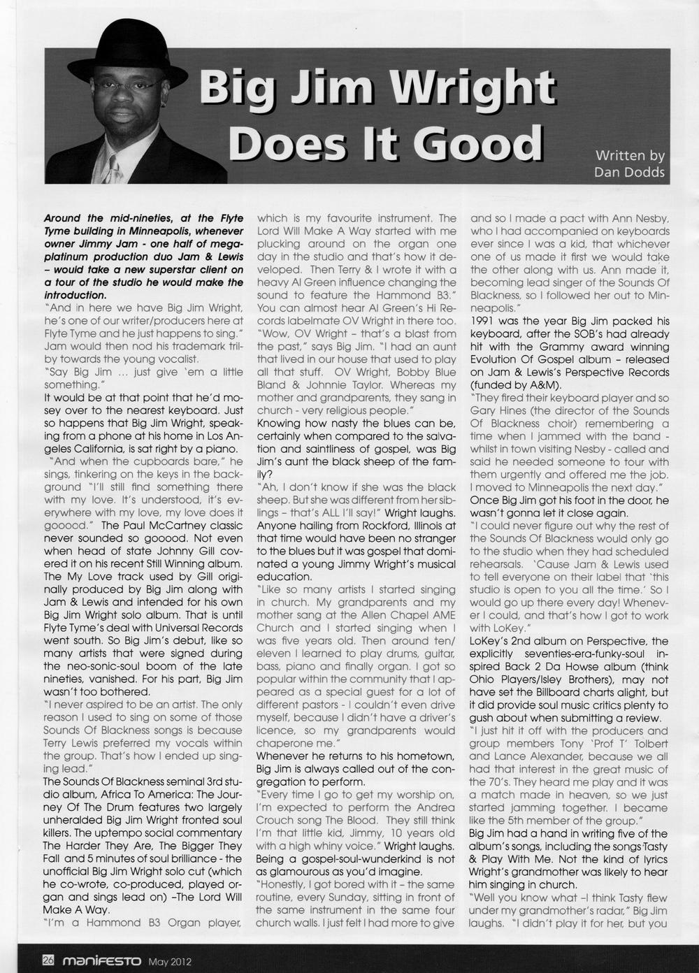 Manifesto Soul Magazine Jun 2012