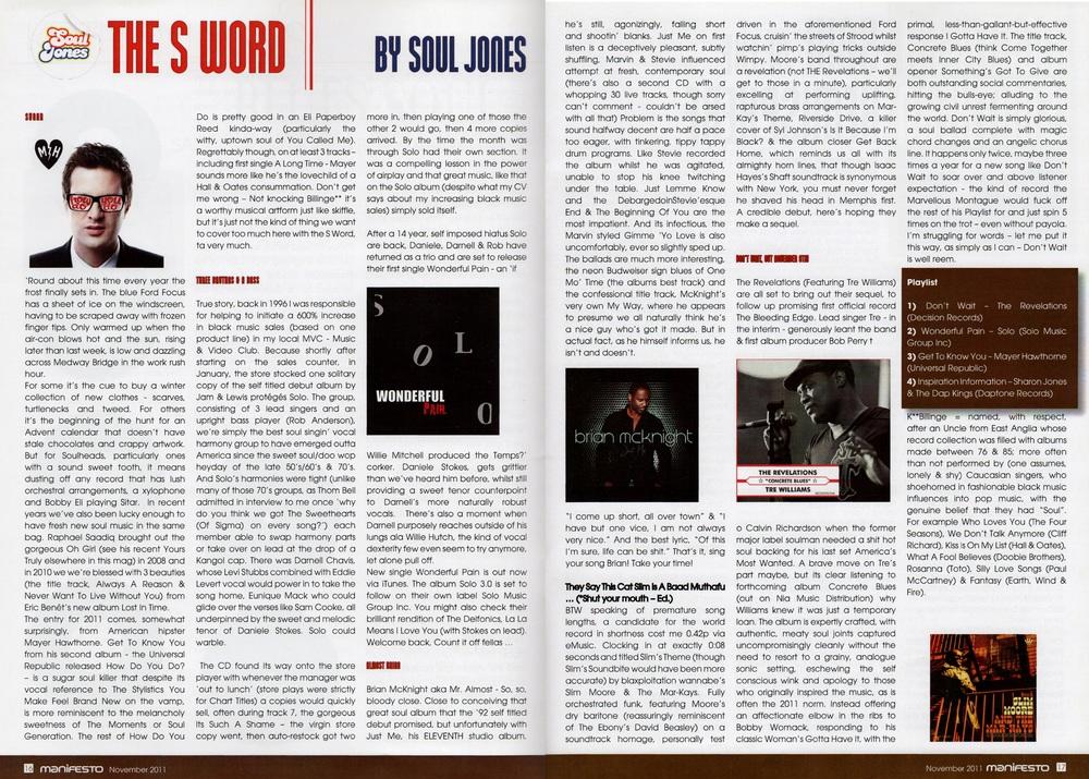 Manifesto Soul Magazine Nov 2011