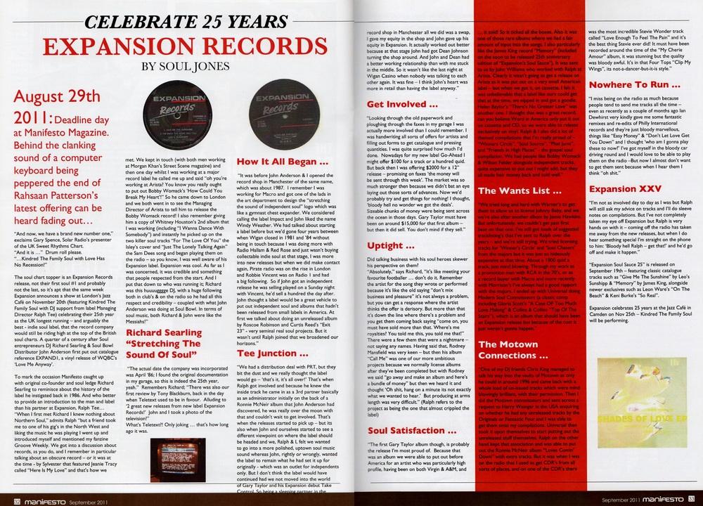 Manifesto Soul Magazine Sept 2011