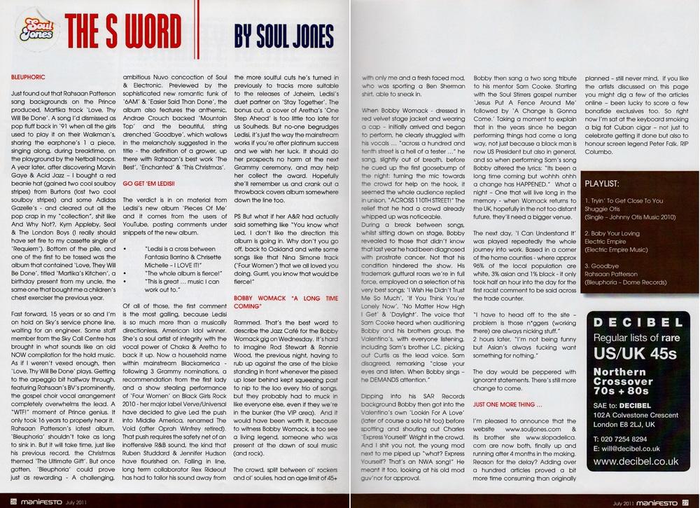 Manifesto Soul Magazine Jul 2011