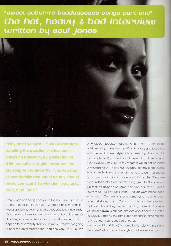Manifesto Soul Magazine Oct 2011