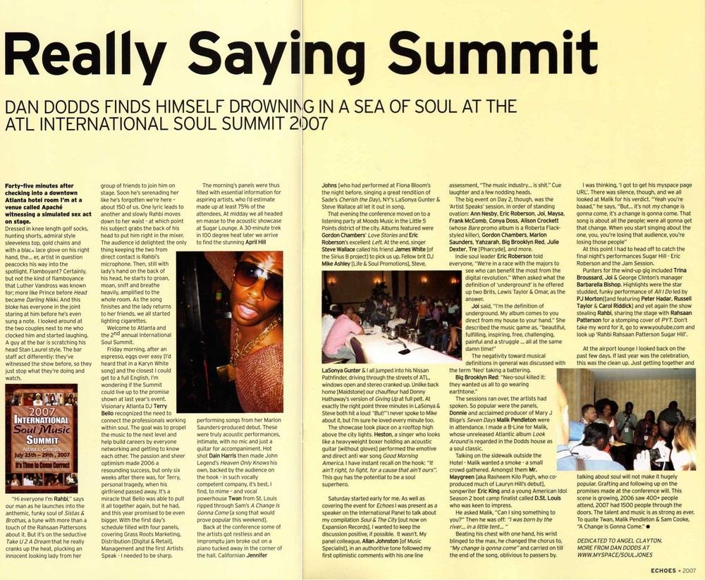 Echoes Magazine Oct 2007