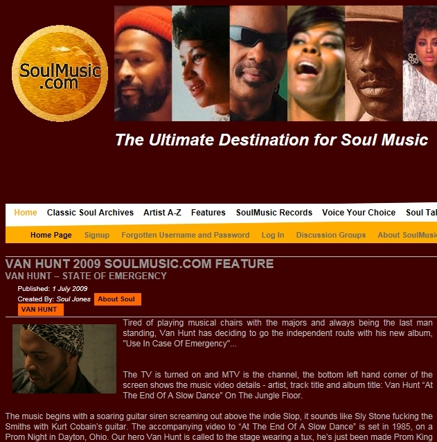 Soulmusic.com Jul 2009