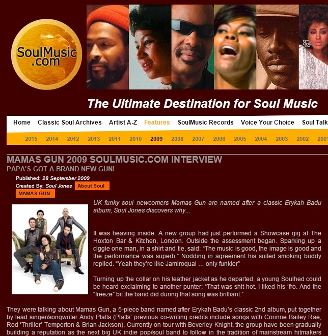 Soulmusic.com Sept 2009