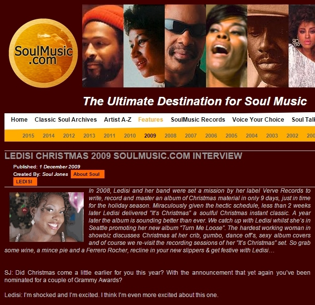 Soulmusic.com Dec 2009
