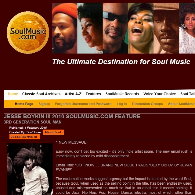 Soulmusic.com Feb 2010