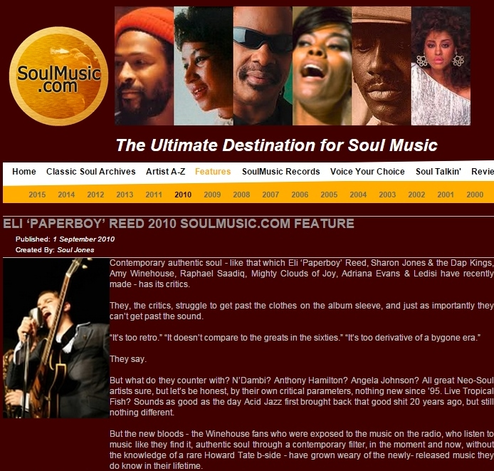 Soulmusic.com Sept 2010