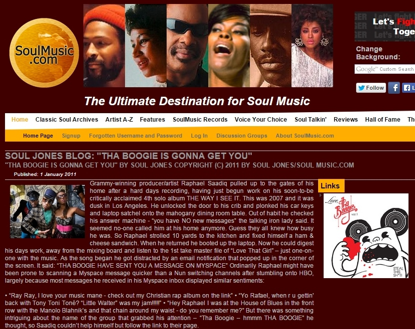 Soulmusic.com Jan 2011