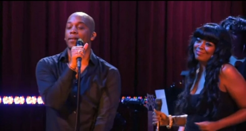Rahsaan performing with Shanice
