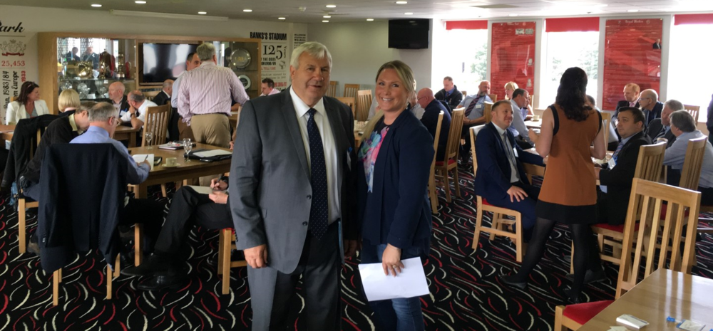 Midlands Reg. Chair, Howard Evans and Vice Chair, Kate Whately