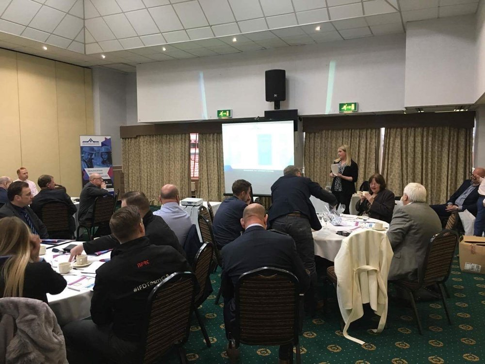 IoR members hearing from West Midlands Vice Chair, Kate Whately