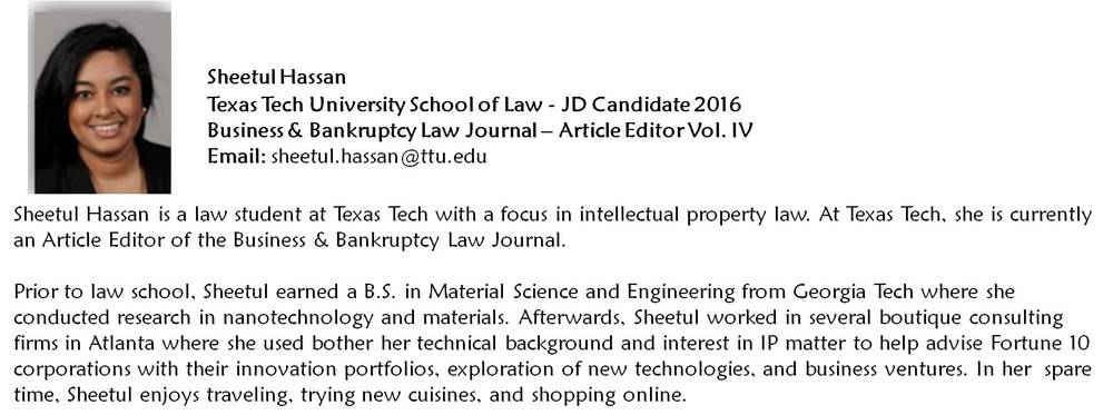 Sheetul Hassan is currently working a legal externship in Dallas, Texas and will graduate December 2016.