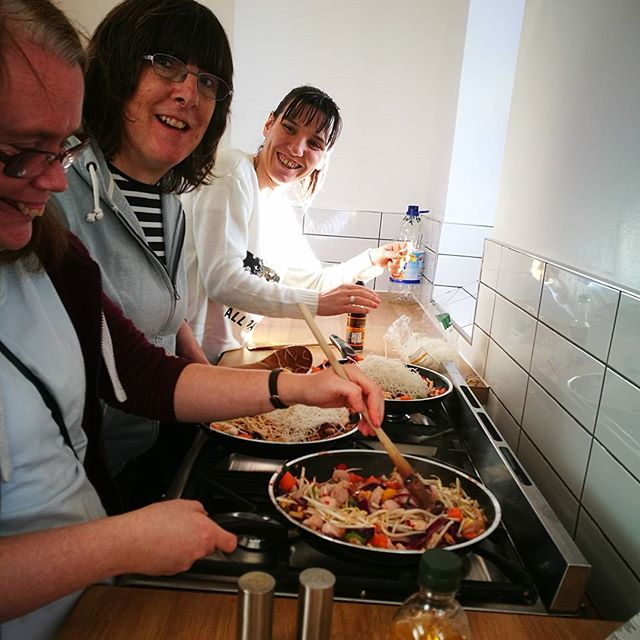 The cookery group took charge today and taught me how to make stir fry 😁😍💛