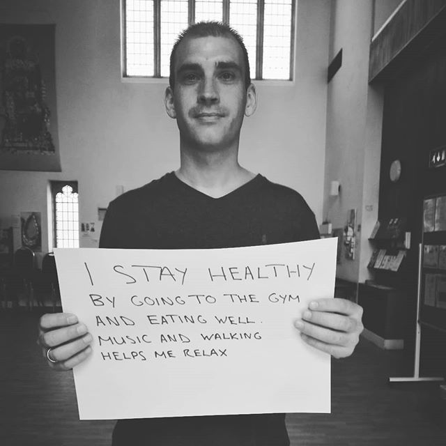 One of our lovely volunteers sharing with you what he does to keep himself well. #mentalhealthawareness