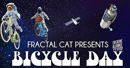 Who's coming to Bicycle Day next Thursday with Fractal Cat? 🚴🏿‍♀️🚴🏻‍♂️🚴🏿‍♂️🚴🏾‍♀️🚴🏽‍♂️🚴‍♂️🚴‍♀️ Fans of 60s psychedelic music, current psychedelic research, and the Baltimore music scene, buy your tickets while they last! 🚴🏻‍♀️🚴🏾‍♀️🚴‍♂️🚴‍♀️🚴🏽‍♂️🚴🏿‍♀️ Thursday April 19. Creative Alliance, 3134 Eastern Ave, Baltimore. 👆👆👆👆👆👆👆 Featuring... 🙀🙀🙀🙀🙀🙀🙀 -original music from Fractal Cat plus covers of Beatles, Grateful Dead, early Pink Floyd, and more, with ALL the bells and whistles! -some of the finest music talent in Baltimore joining onstage to make it all happen (members of Telesma, Arbouretum, Brooks Long, and more!) -talk by Dr. Matthew Johnson (Johns Hopkins) on his human research with psychedelics -the Baltimore Psychedelic Society, and Tarot readings with Mary Shock 🙀🙀🙀🙀🙀🙀🙀 Ticket link in bio!!! 🚴🏿‍♂️🚴🏻‍♀️🚴🏿‍♀️🚴🏽‍♂️🚴🏽‍♂️🚴🏻‍♂️🚴‍♀️