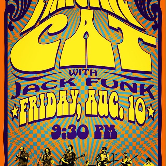 A psychedelic haze is moving in over Frederick. 9:30 at Cafe Nola. #cafenolamd  #psychedelic  #jackfunk  #frederickplaylist