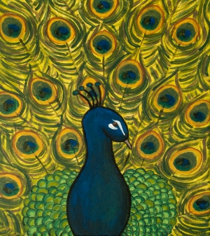 "Selected painting - ""Peacock"""