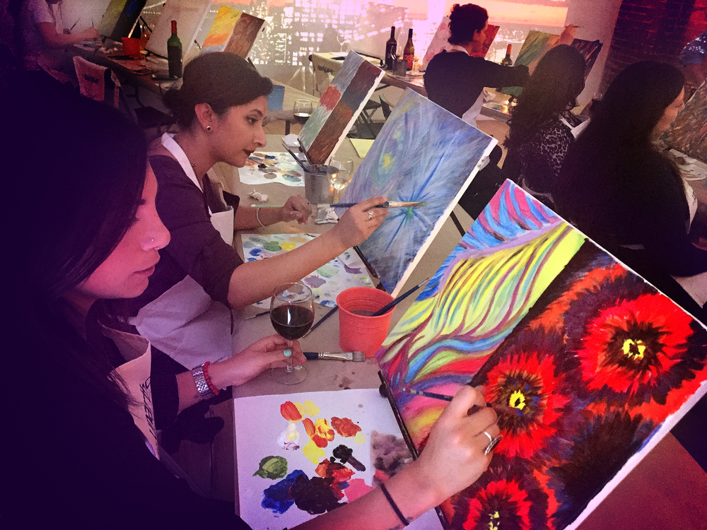 paint and sip activities for adults in NYC