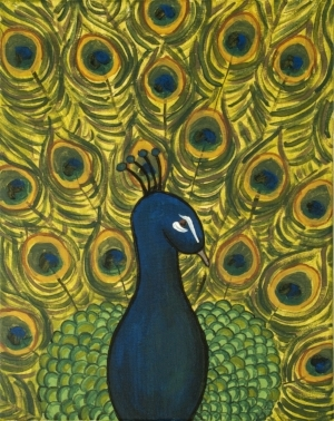 """Selected Painting - """"Peacock"""""""