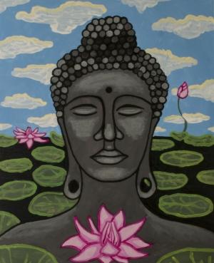 Selected Painting: Buddha and Lotus