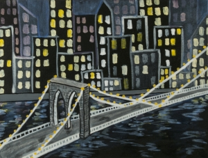 "Selected Painting - ""New York Skyline"""