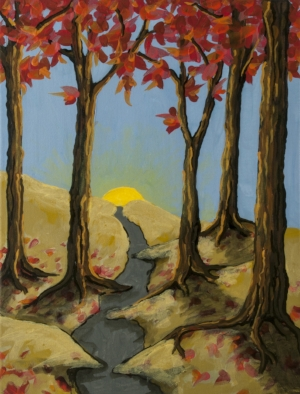 Selected painting - Fall Alley