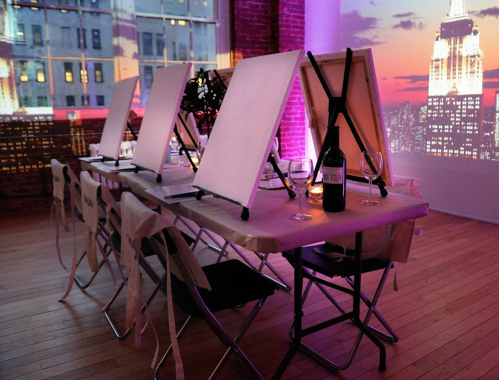 painting and wine classes