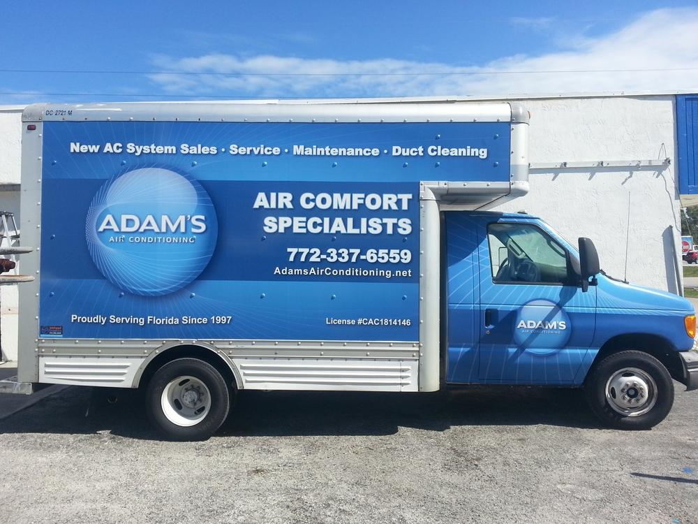 Adam's AC Bost Truck Wrap