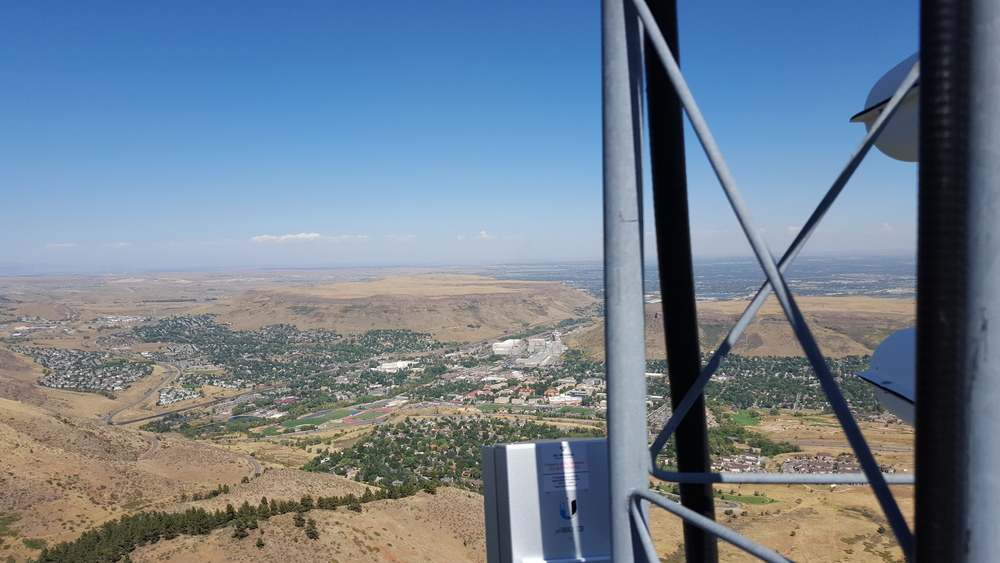 Looking north from the antenna