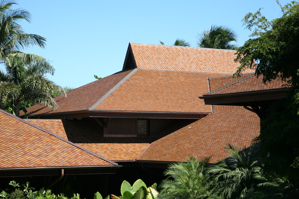 custom roof private residence in florida